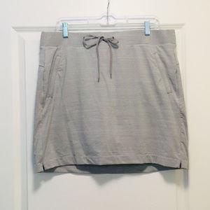 ATHLETA Gray Pinstripe Athletic Skirt w/ Shorts